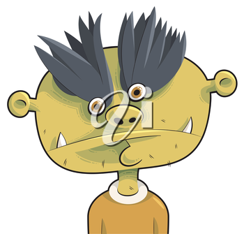 Royalty Free Clipart Image of a Strange Looking Person