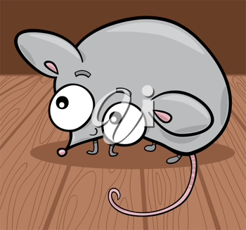 Royalty Free Clipart Image of a Mouse With Big Eyes