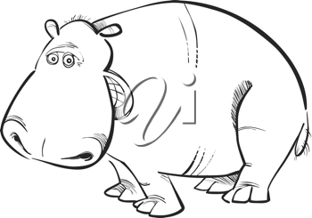 Royalty Free Clipart Image of a Hippopotamus