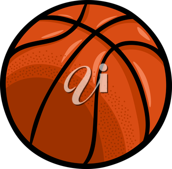 Cartoon Illustration of Basketball Ball Clip Art