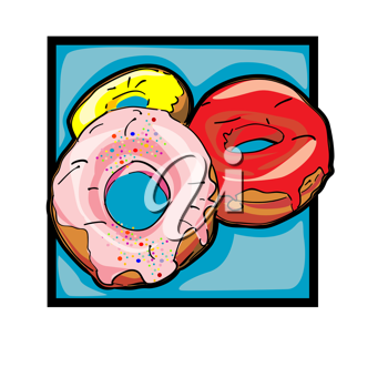Royalty Free Photo of a Donuts Icon