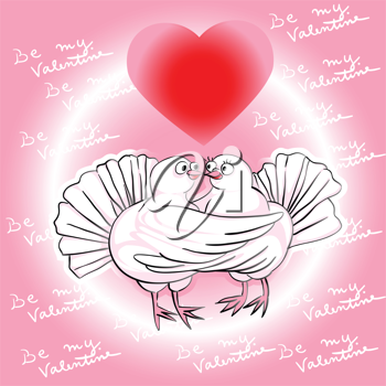 Royalty Free Clipart Image of Love Birds