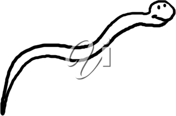 Royalty Free Clipart Image of a Snake