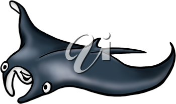 Royalty Free Clipart Image of a Stingray