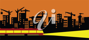 Royalty Free Clipart Image of a City