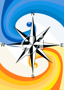 Royalty Free Clipart Image of a Nautical Compass