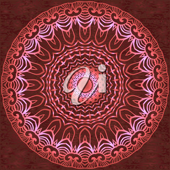 Circle floral ornament, EPS10 - vector graphics.