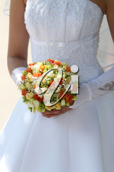 Royalty Free Photo of a Bride's Bouquet