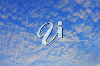 Royalty Free Photo of Light Clouds in a Blue Sky