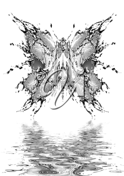 Royalty Free Clipart Image of a Water Butterfly