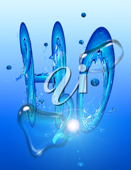 Royalty Free Clipart Image of H2O