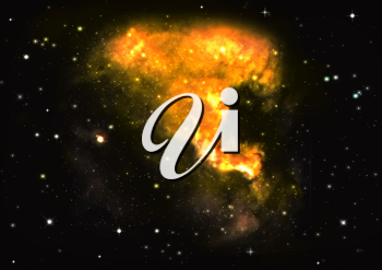 Royalty Free Clipart Image of Outer Space