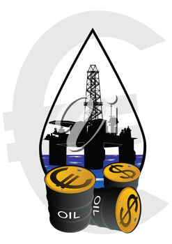 Royalty Free Clipart Image of a Sale of Petroleum Products