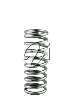 metal dark spring isolated on white background  with a clipping path