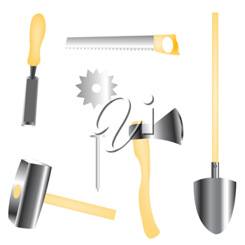 Royalty Free Clipart Image of Tools