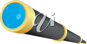 Royalty Free Clipart Image of a Telescope