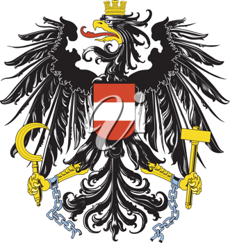 Royalty Free Clipart of an Austrian Coat Of Arms