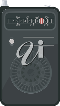 Royalty Free Clipart Image of a Portable Radio