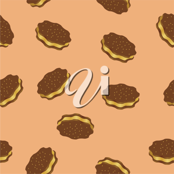 Royalty Free Clipart Image of Chocolate Cookies With Filling