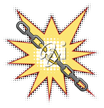 Vector illustration of the broken chain