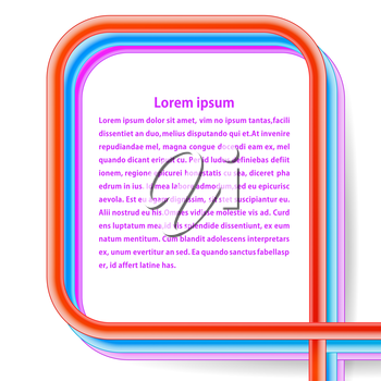 Frame of rainbow cables on a white background. Vector illustration