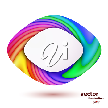 Abstract background with colored stripes and shapes for text. Vector illustration