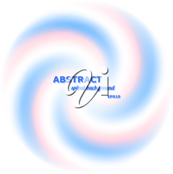 Abstract spiral background - rotation of two colors - pink and blue. Vector illustration
