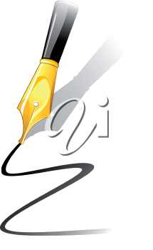 Royalty Free Clipart Image of a Fountain Pen