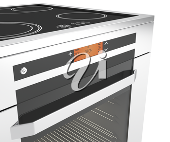 Royalty Free Clipart Image of an Electric Oven