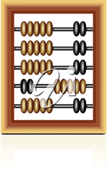 Royalty Free Clipart Image of a Wooden Abacus