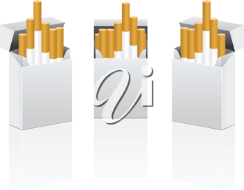 Royalty Free Clipart Image of Cigarettes