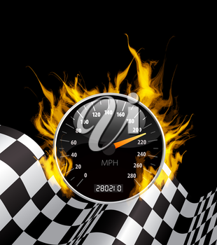 Royalty Free Clipart Image of a Racing Background
