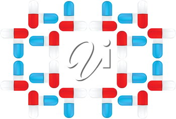 Royalty Free Clipart Image of a Design Made From Pills