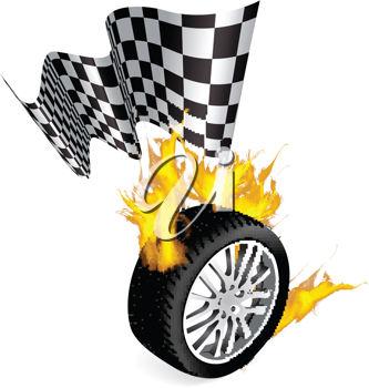 Royalty Free Clipart Image of a Sports Racing Design