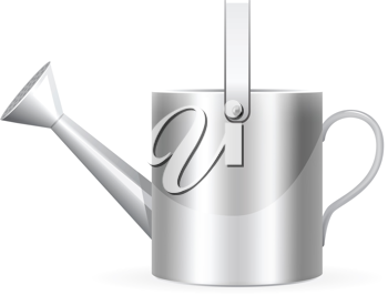 Royalty Free Clipart Image of a Realistic Watering Can