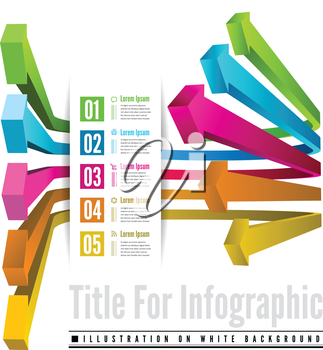 Infographic options with color arrow. Vector illustration