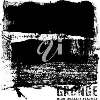 Grunge background / Grunge Dirt Effect / Distress Texture / Handcrafted Texture High Quality / Abstract vector template / Black and White