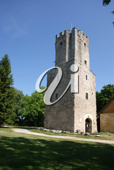 Royalty Free Photo of a Castle Tower