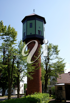 Royalty Free Photo of an Old Water Tower in Estonia