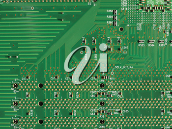 detail of an electronic printed circuit board (PCB)