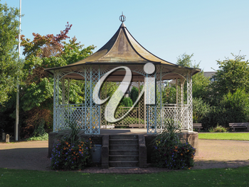 Bandstand in Piercefield park in Chepstow, UK
