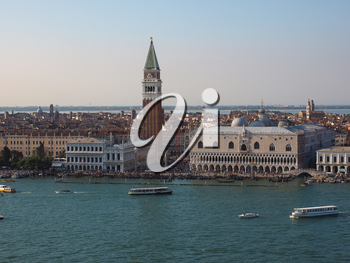 Piazza San Marco (meaning St Mark square) in Venice, Italy
