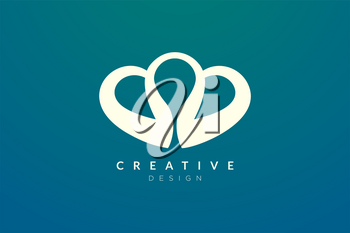 Abstract heart shaped logo design. Simple and modern vector design for business brands in the spa, hotel, beauty, health, fashion, cosmetic, boutique, salon, yoga, therapy