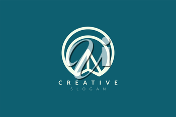 The logo design is a blend of circles with the direction of the arrow. Minimalist and modern vector illustration design suitable for business and brands.