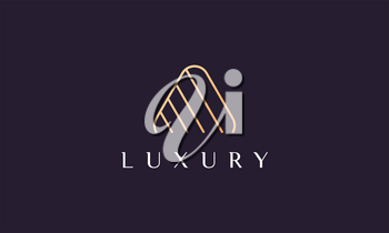 Abstract line triangle logo in modern and luxury style