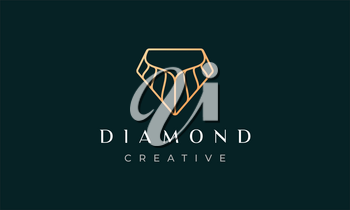 diamond logo shaped simple and modern with luxury concept for business