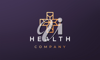 minimal medical logo concept in a modern style