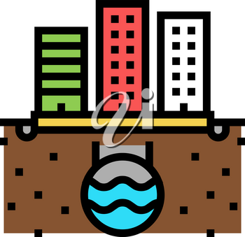 urban drainage system color icon vector. urban drainage system sign. isolated symbol illustration