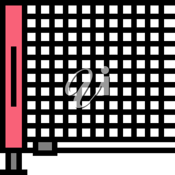 net tennis accessory color icon vector. net tennis accessory sign. isolated symbol illustration