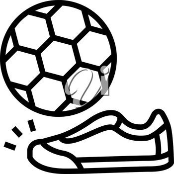 soccer football game line icon vector. soccer football game sign. isolated contour symbol black illustration
